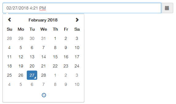 Bootstrap DateTimePicker – CentralGest Development Tools
